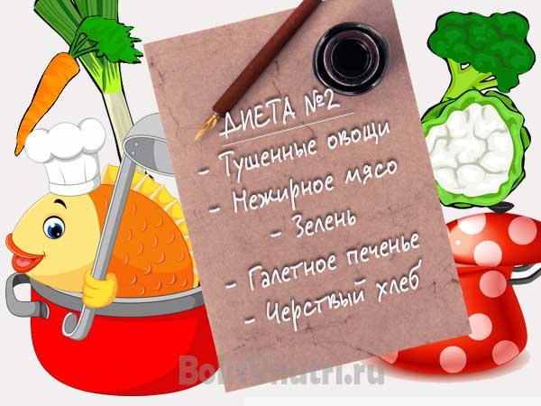 диета: каши, овощи, постное мясо, рыба